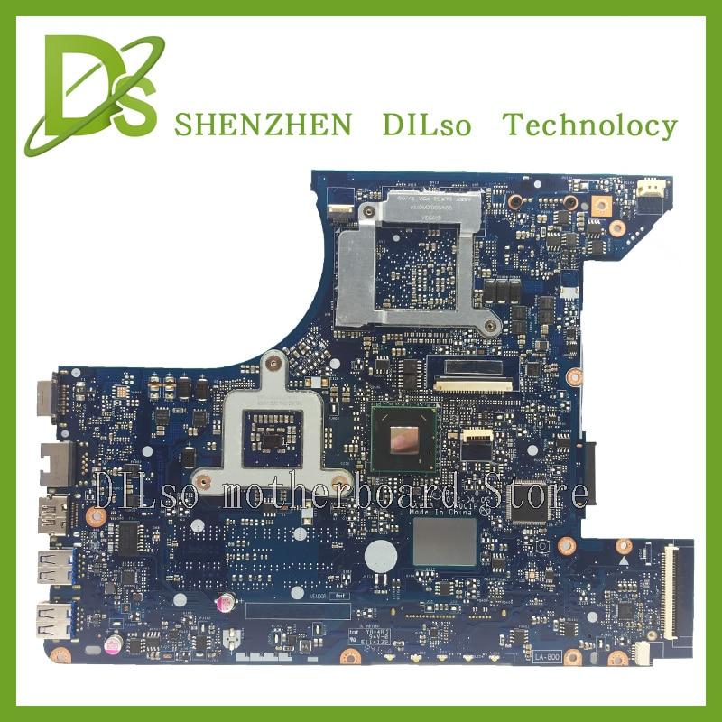 KEFU Y480 LA-8001P laptop motherboard for lenovo y480 QIWY3 LA-8001P GT635 motherboard Test original motherboard jigu new battery l11l6y01 l11s6y01 for lenovo y480p y580nt g485a g410 y480a y480 y580 g480 g485g z380 y480m