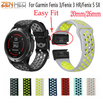 26 Watchband for Garmin Fenix 5X 3 3 HR Smart Watch Quick Release Band Easy Fit Wrist Band Strap for Garmin Fenix 5X/5X Plus leatherman watch strap 26mm garmin quick release easy fit stainless steel watch band for garmin fenix 5x fenix 3 fenix 3 hr