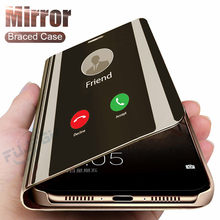 Smart Mirror Flip Phone Case For Xiaomi Redmi 5 Plus 5A 7 6A Note 7 Pro 5 4X 6 Pro Mi 8 Lite 9 SE F1 Max3 Mix3 Flip Leather Case(China)