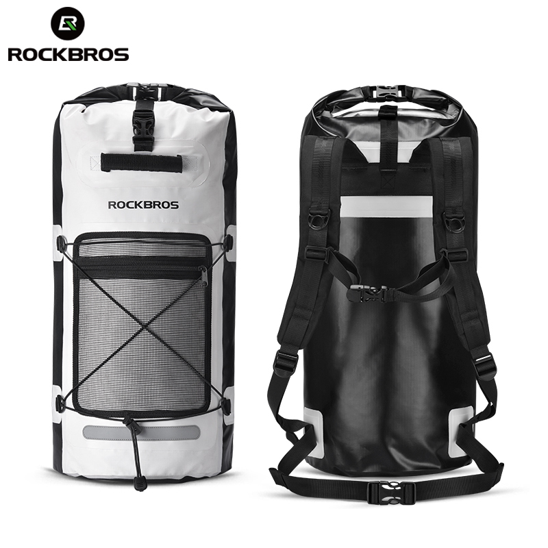 ROCKBROS Waterproof Hiking Backpack Rain Cover Camping Bags Package Outdoor Cycling Swimming Mountaineering Fishing Bag Backpack cycling multi function outdoor sports backpack bike bag 22l motorcycle rucksack backpack bag with waterproof rain cover