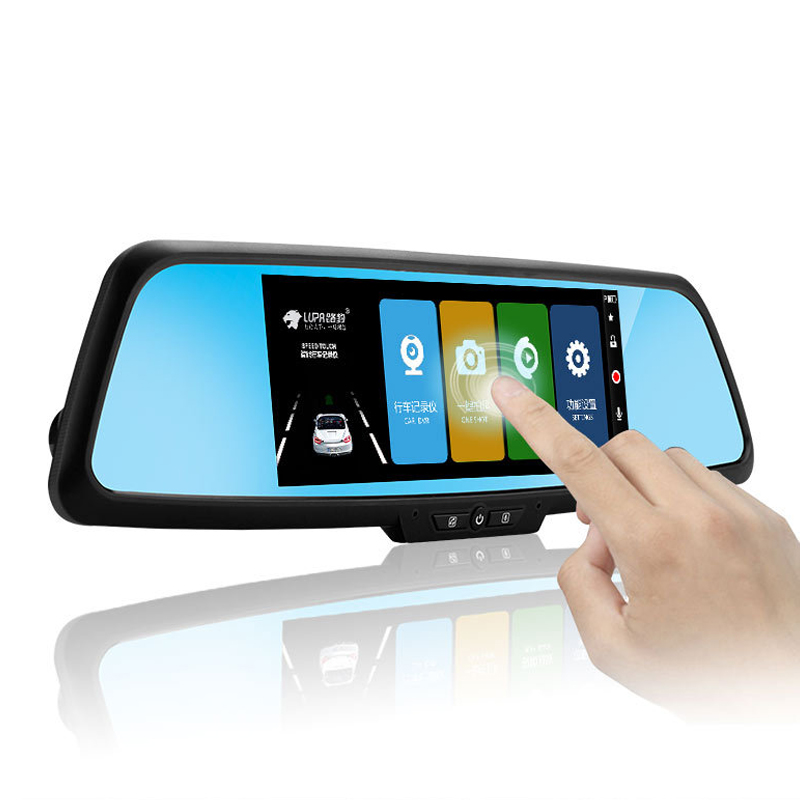 Full HD 1080P Car Dvr Camera Mirror With Dual Lens Touch Screen Video Recorder Dvrs Rearview Cameras Light Night Vision Dash Cam dual dash camera car dvr with gps car dvrs car camera dvr video recorder dash cam dashboard full hd 720p portable recorder dvrs