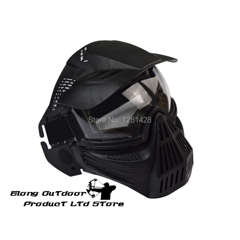 Free Shipping 1PCS  CS Mask Full Face CS Game Archery Practice Sports Airsoft Paintball Protect Mesh goggles full face masks neck mesh protective outdoors cs war game airsoft paintball field sport equipment tactical masks