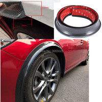 Universal two pcs* 150cm Car Fender Flares Extension Wheel Eyebrow Protector Lip Moulding