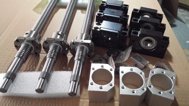 6 sets linear rail SBR20 L350/1500/1000mm+SFU2005-350/1000/1500mm ball screw+3 BK15/BF15+3 DSG20H nut+3 Coupler for cnc