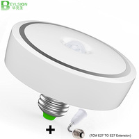 BEYLSION 12W 15W LED PIR Sensor Infrared Ceiling Light Flush Mounted Decor Home Lamp Human Body Motion Induction + E27 Extension