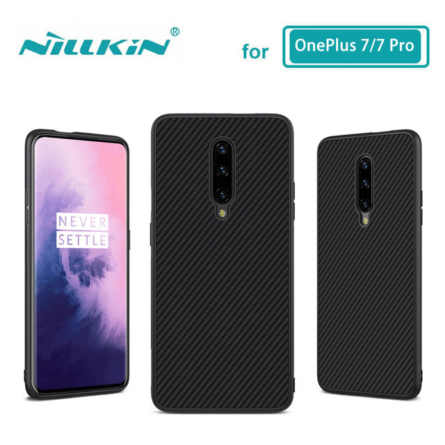 OnePlus 7 Pro Case Casing Nillkin Synthetic fiber Carbon PP Plastic Back Case for OnePlus 7/7 Pro Cover