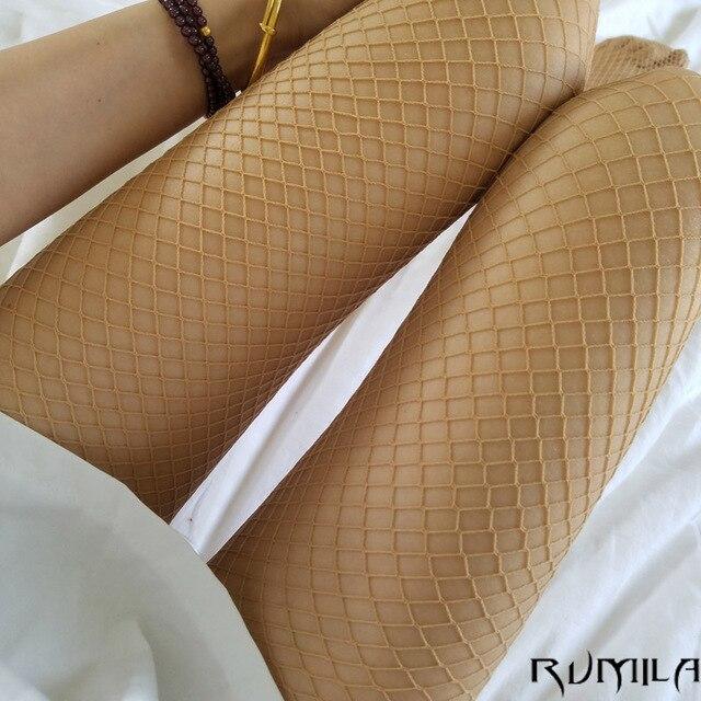 Кожа средней сетки сексуальные женские чулки с высокой талией ажурные Клубные колготки Трусики вязаные сетчатые колготки брюки сетка нижнее белье TT016