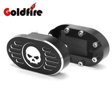 Cráneo CNC Billet Freno Pedal Pad Cubierta Estribo para Harley Sportster XL883 XL1200 Dyna Fat Bob Softail V-rod Night Street varilla