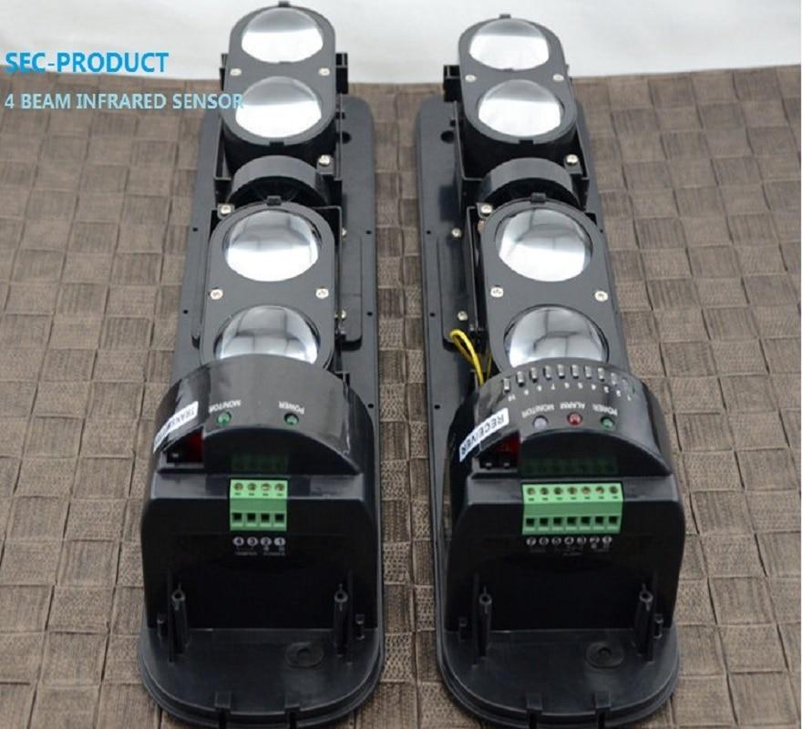 Vodoravni kut s 4 grede je podešavanje Aktivni infracrveni senzor za vanjsku protuprovalnu alarmu