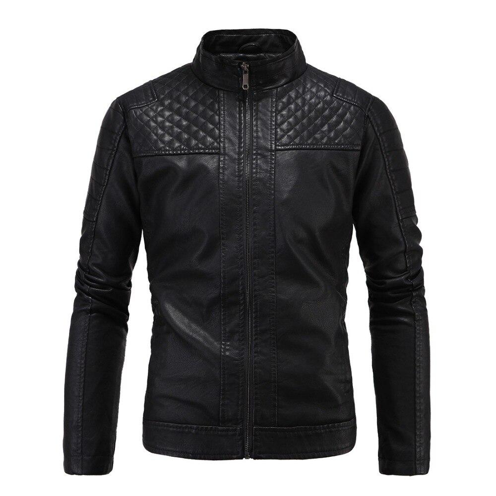2017 hommes en cuir veste hommes épais haut en coton qualité mode veste hommes zipper nouvelle marque design en cuir veste hiver