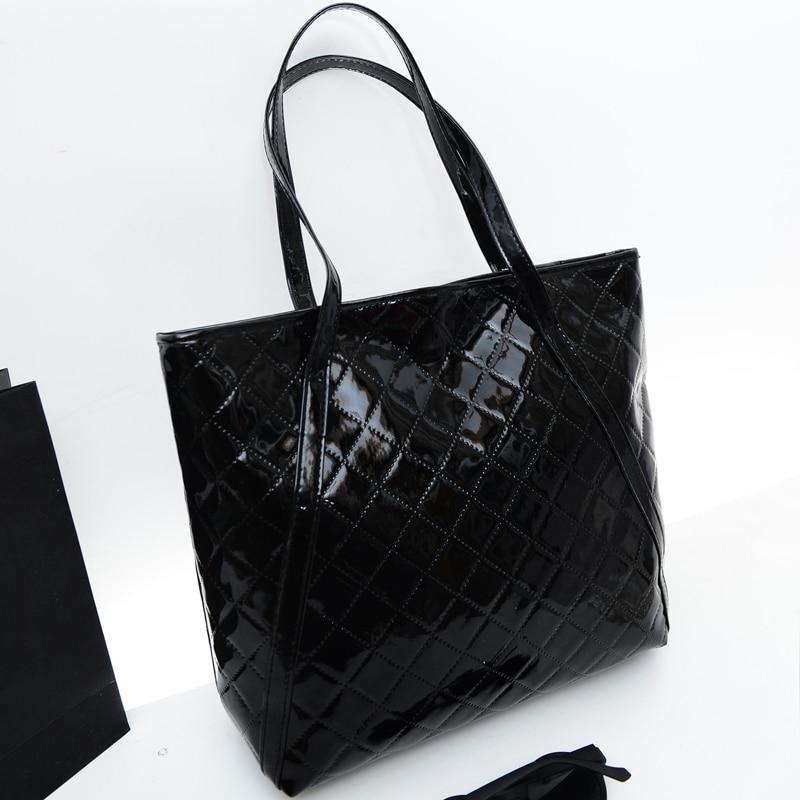 Primavera nuevo bolso femenino calidad pu cuero mujer bolso Quilted Threads bols