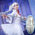 Mcoser 90cm Long OHS RWBY White RWBY Weiss Schnee White Cosplay Wig Anime Costume Party Wig