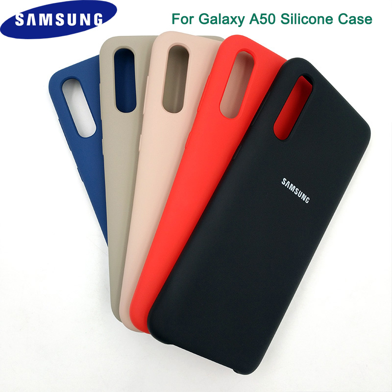 100% Original For <font><b>Samsung</b></font> <font><b>A50</b></font> Soft-Touch Silicone Case For <font><b>Samsung</b></font> <font><b>Galaxy</b></font> <font><b>A50</b></font> SM-A505F A505F <font><b>A505</b></font> Phone Back Cover 6.4Inch image