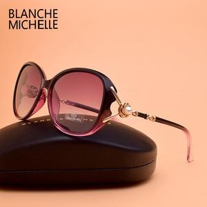 Image 3 - Blanche Michelle 2019 High Quality Polarized Sunglasses Women Brand Designer UV400 Gradient Sun Glasses Pearl oculos With Box