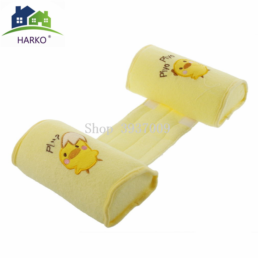 HARKO Baby Crib Infant Baby Toddler Safe 100/% Cotton Anti Roll Pillow Sleep