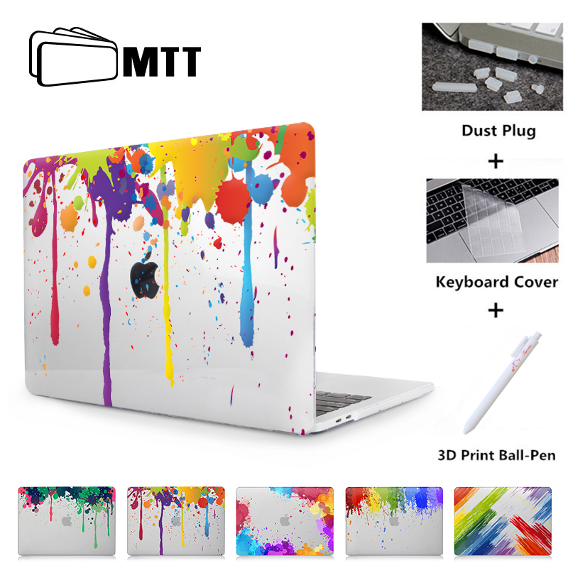 MTT Case For Apple Macbook Air Pro Retina 11 12 13 15 Inch With Touch Bar Paint Crystal Hard Cover Laptop Case A1706 A1708 A1932
