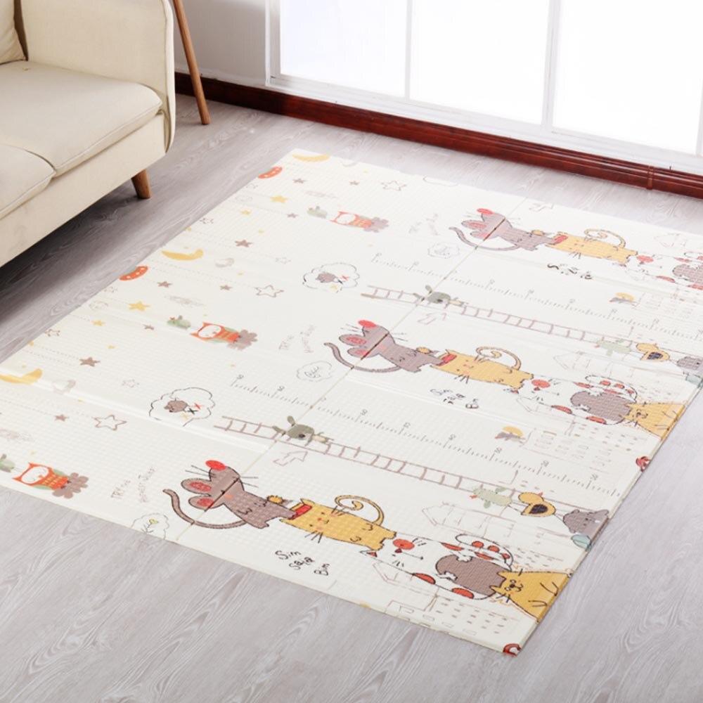 Tapis de jeu pour bébé Xpe Puzzle tapis pour enfants tapis épaissi tapis pour bébé chambre pour bébé tapis rampant tapis pliant tapis bébé 155*200*1 cm