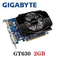 Carte vidéo GIGABYTE Original GT630 2GB 2G 128Bit GDDR3 cartes graphiques pour cartes nVIDIA VGA Geforce GT 630 Hdmi Dvi utilisé en vente