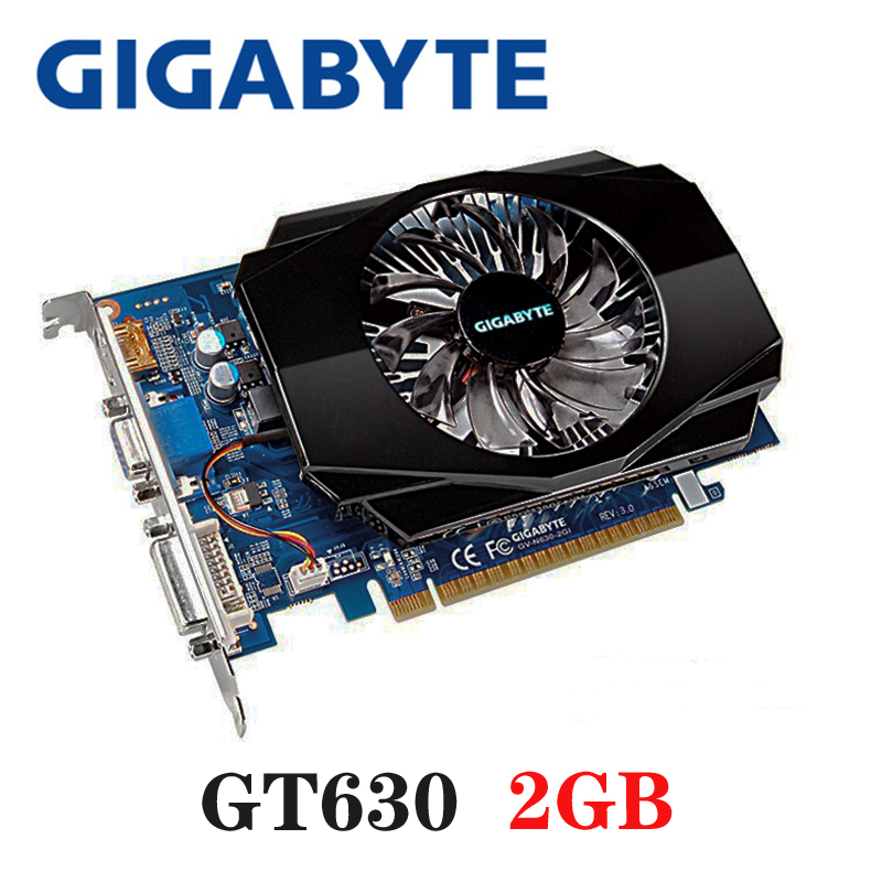 PLACA De Vídeo GIGABYTE Original GT630 2GB 2G 128Bit GDDR3 Placas Gráficas para Placas VGA nVIDIA Geforce GT 630 hdmi Dvi Usados À Venda