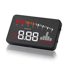 3'' High Definition Screen OBD2 X5 Auto HUD Car Head up Display Speed Projector Windshield Digital Speedometer Display on Board