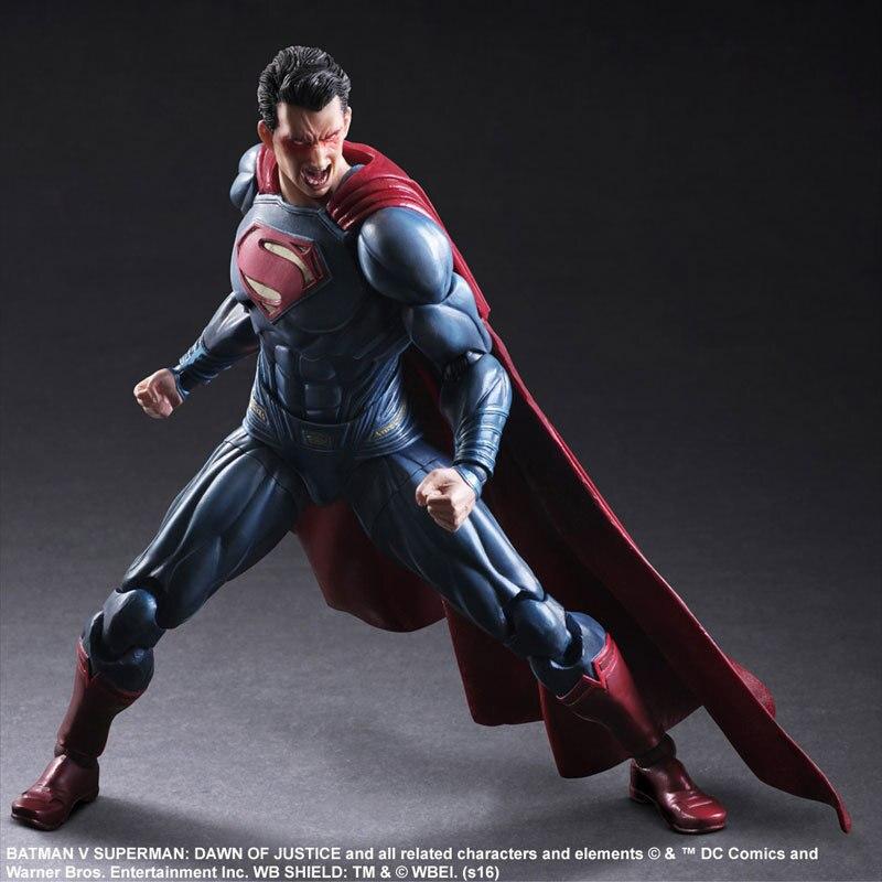 Play Arts 25cm the Superman Sign in Movie Batman vs Superman DC Super Hero Action Figure Toys