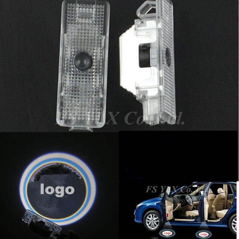 4pc Car LED Courtesy Door Logo Projector Light Ghost Shadow Light for BMW e39 X series X5 E53 led door logo light for bmw x5 e53