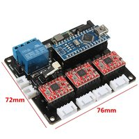 New 1 Set USB 3 Axis Stepper Motor Driver Board For GRBL DIY Laser Engraving Cutting