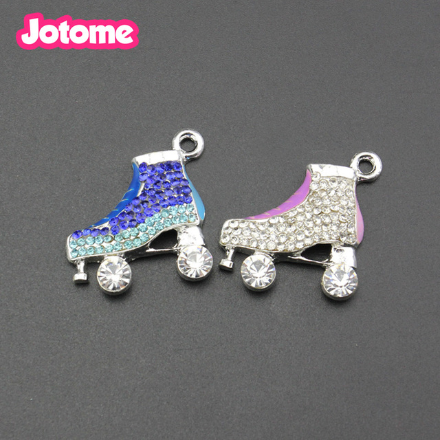 94bb1fbc85b36 US $198.0 |Aliexpress.com : Buy 100PCS/LOT free shipping 25mm rhinestone  skate pendant from Reliable rhinestone pendants suppliers on Jotome Jewelry  ...