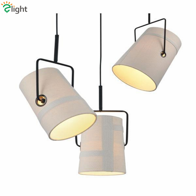 Modern Fork R7S Rotatable Pendant Light American Retro Linen Fabric Lampshade Led Pendant Light Lustre Indoor Lighting Lamparas r r s stewart designing a campus for african american females