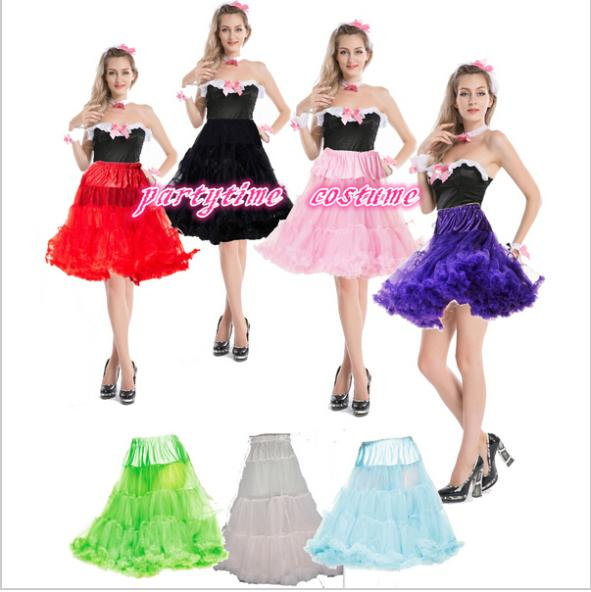 R56 Long Petticoat Rockabilly Swing Pettiskirt Tulle Slip 50s Retro ROCKABILLY SKIRT TUTU