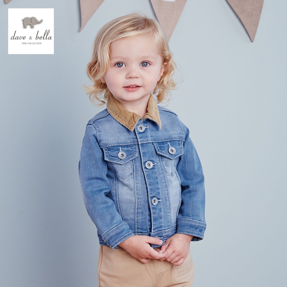 DB1969 dave bella spring autumn baby boy jeans jacket infant outerwear toddle clothes boys coats fashionable jeans coat db2315 dave bella autumn winter baby boy turtleneck sweater infant clothes toddle cotton wool sweater boys plum sweaters
