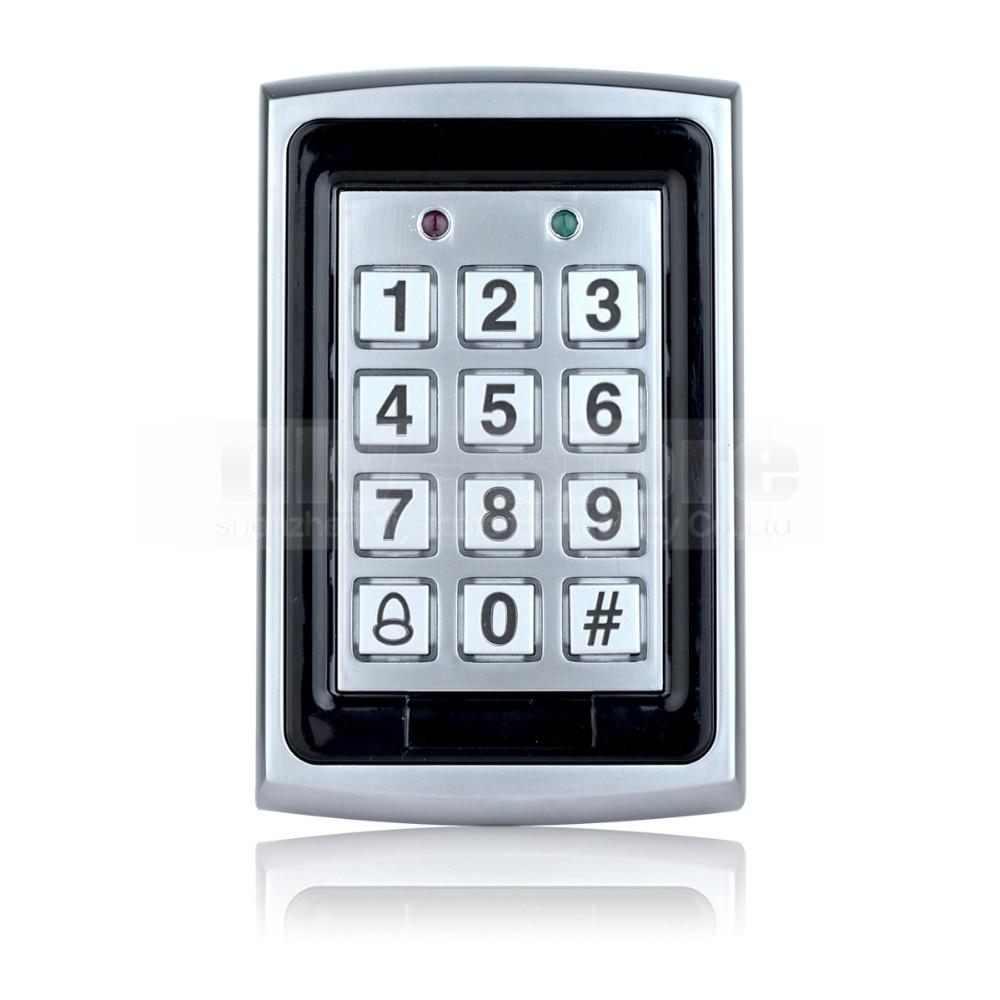 Считыватель идентификационных карт DIYSECUR 125 кГц RFID, металлическая клавиатура с дверным звонком, кнопка, система контроля допуска к двери + 10 и
