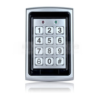 DIYSECUR 125KHz RFID ID Card Reader Metal Keypad With Door Bell Button Door Access Control System +10 ID Key Fobs