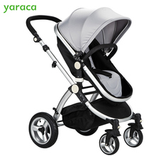 New Design Luxury Baby Stroller High Landscape Baby Carriage Four Wheels Single Seat 2 in1 Stroller For Infant