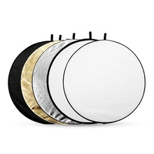 5-in-1 Gold&Silver Collapsible Light Round Photography Reflector for Studio Multi Photo Disc 24″ 60cm