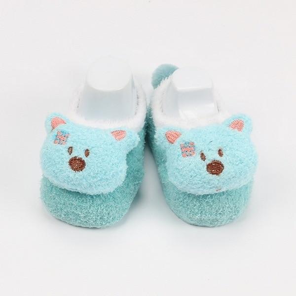 Winter Coral Fleece Socks Child Baby Infant Children Cartoon Doll Feather Yarn Floor Baby Socks cute  Funny Sock 5