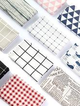 Photographie Art accessoires treillis tissu Style européen nappe pour délicatesse Fine nourriture vaisselle photographie fond décoration