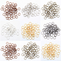 Copper Silver Plated Metal Split Rings Findings for Key Rings 4mm 5mm 6mm 7mm 8mm 10mm 12mm for Jewelry Making