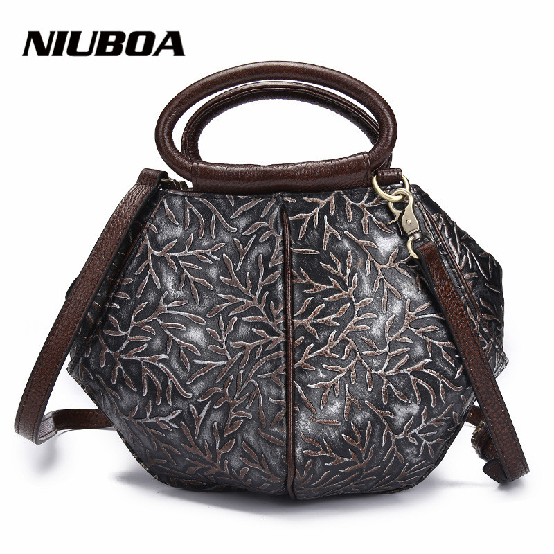 ФОТО High Quality Women Handbags 100% Genuine Leather Bags Tot High Quality Ladies Post Shoulder Bag Vintage Crossbody Bags for Women