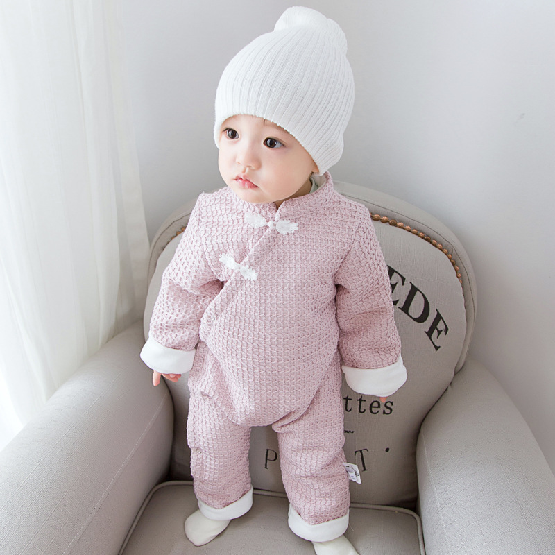 Designer Newborn Clothes Baby Rompers Winter Thick Climbing Clothes Newborn Boys Girls Warm Romper China Style Cute Outwear puseky 2017 infant romper baby boys girls jumpsuit newborn bebe clothing hooded toddler baby clothes cute panda romper costumes