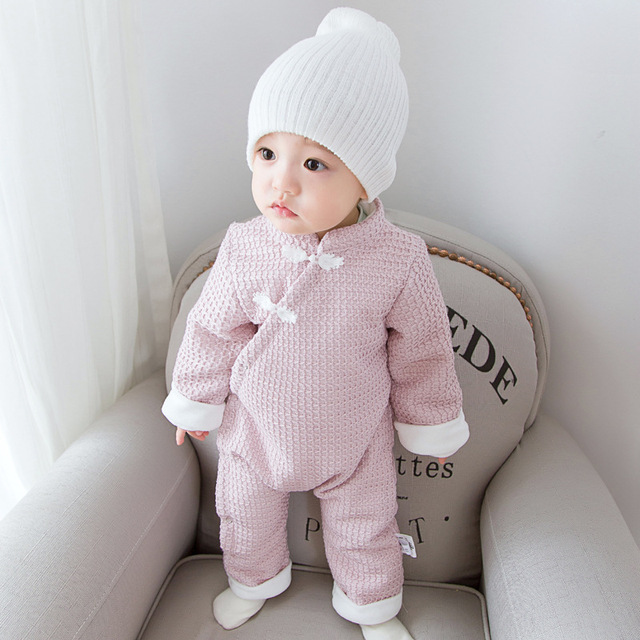 5e906434a27ba Designer Newborn Clothes Baby Rompers Winter Thick Climbing Clothes Newborn  Boys Girls Warm Romper China Style Cute Outwear