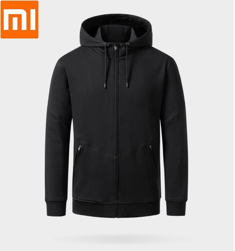Xiaomi Uleemark Casual Men s Hooded Zip Cardigan Strong fabric No ball Long Men Zipper Sleeve