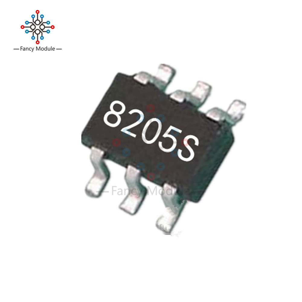 10PCS CEG8205S 8205S 8205 SOT23-6 Dual N-Channel Field Effect Transistor free shipping 2sk170 gr to 92 100pcs k170 2sk170 n channel silicon transistor field effect transistor low noise audio amplifier
