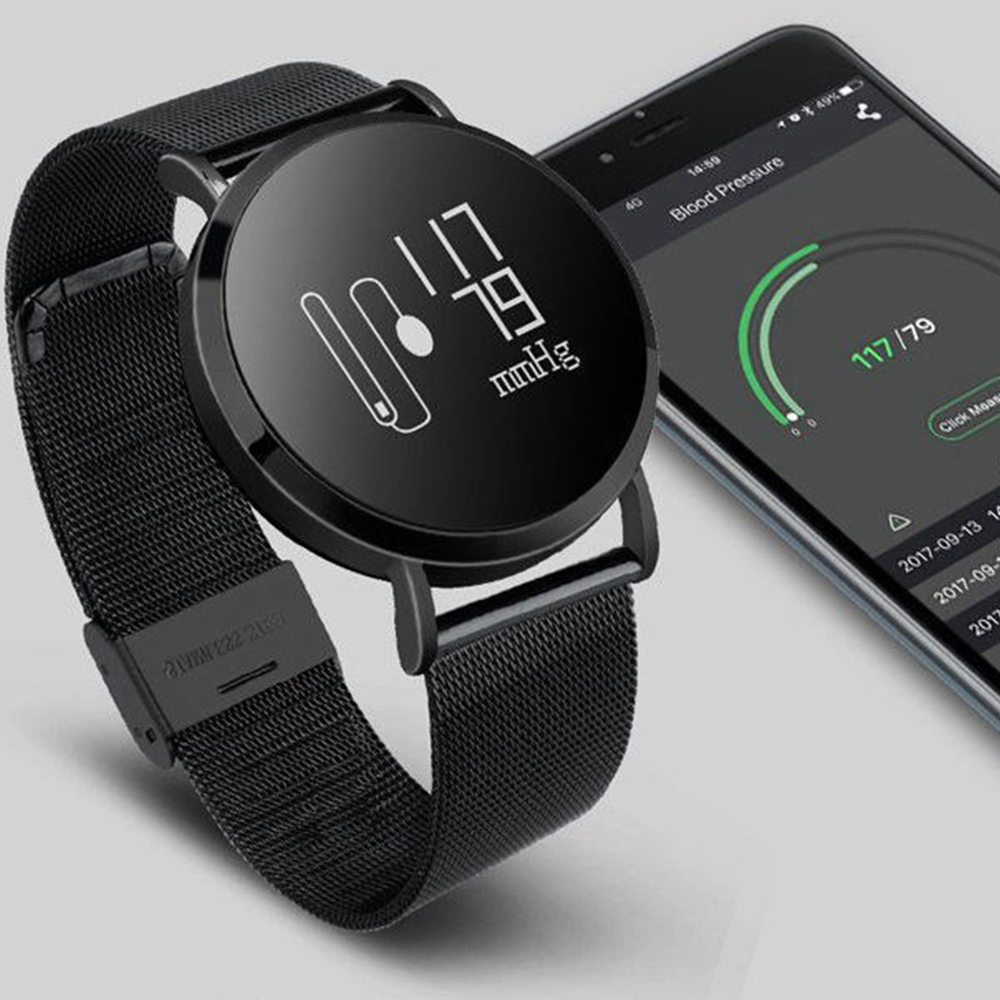 Timethinker CV08 Smart Watch Men Horloge Bracelet Bluetooth Steel Watch Heart Rate Blood Pressure Monitor Smartwatch Relogio