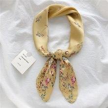 Женский квадратный шарф luna & dolphin желтый шифоновый шелковый