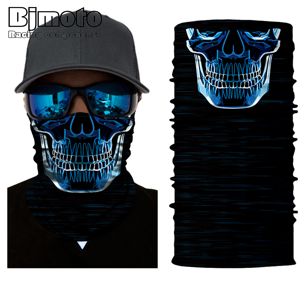 Motorcycle SKULL Ghost Face Windproof Mask Beanie Hat Outdoor Sports Warm Ski Mask Caps Bicycle Bike Balaclavas Bonnet Scarf Man bicycle ski motor bandana motorcycle face mask skull for motorcycle riding scarf women men scarves scary windproof face shield