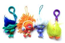 2016 New Arrival 4pcs/lot 7cm DREAMWORKS Movie Trolls Toys Poppy Brent Sookie shiny Action Figures Toys Christmas Gifts