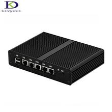 Kingdel 4 * LAN Mini PC Безвентиляторный Настольный Компьютер Celeron J1900 Quad Core Mini PC HTPC 2 * USB VGA Windows 7 DHL Бесплатно доставка
