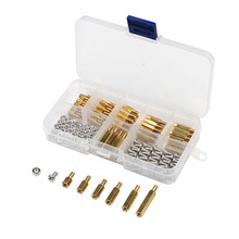 180Pcs/Set M3 Hex Head Brass Spacing Screws Threaded Pillar PCB Computer PC Motherboard StandOff Spacer Kit