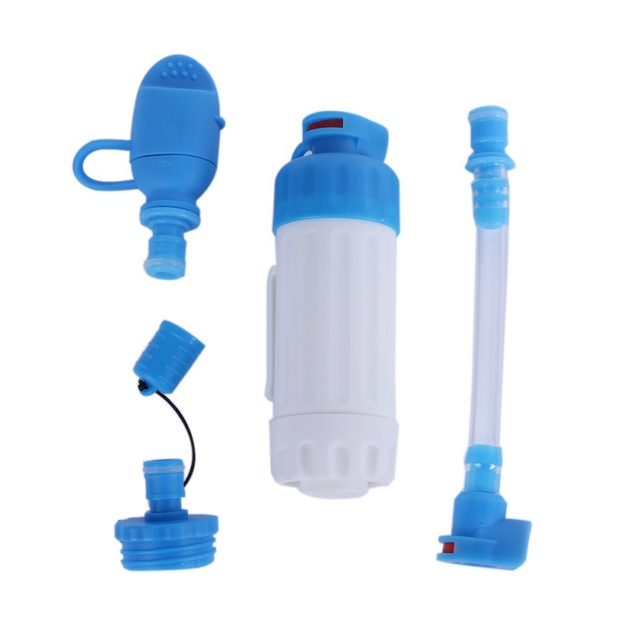 Outdoor Portable Hiking Camping Water Filter Straight Drinking Filtration Capacity Emergency Survival Tool